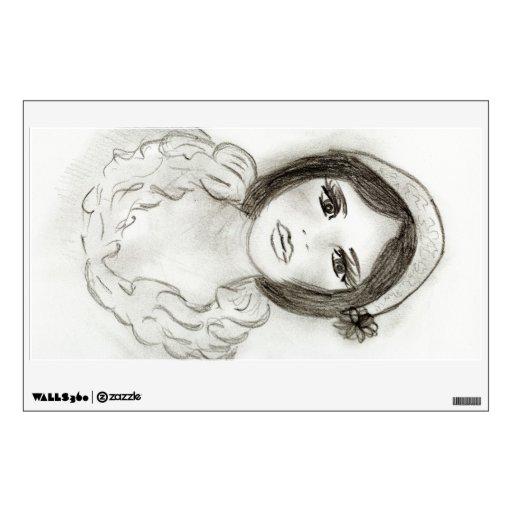 Ruffled Flapper Girl Wall Skin
