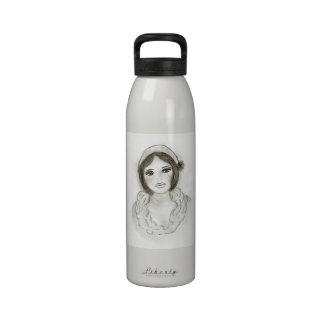 Ruffled Flapper Girl Drinking Bottles