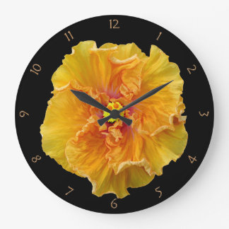 Ruffled Hibiscus Bloom Large Clock