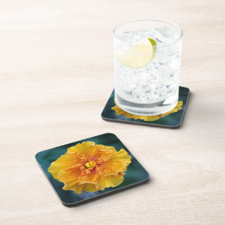 Ruffled Hibiscus Cork Coaster