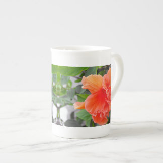Ruffled Orange Flower Tea Cup