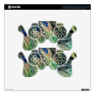 Ruffled Peacock Feathers With New Growth Decal For PS3 Controller