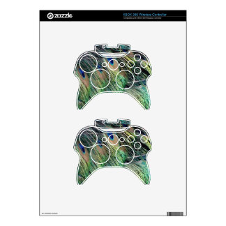 Ruffled Peacock Feathers With New Growth Xbox 360 Controller Decal