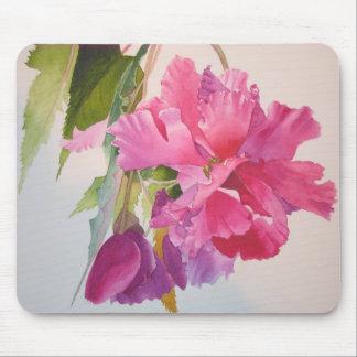 Ruffled Pink Begonia Mouse Pad