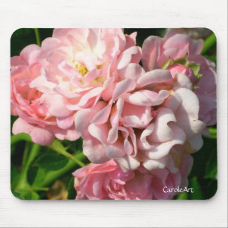 Ruffled Pink Roses Mouse Pad