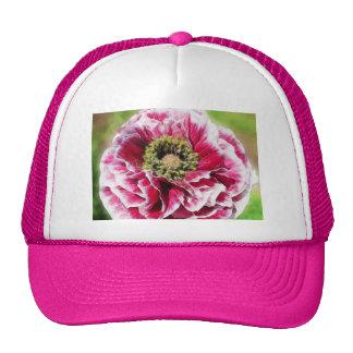 Ruffled Poppy - Rich Rose Mesh Hat