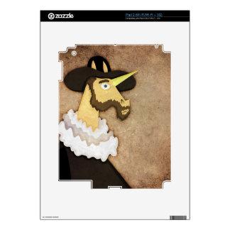 Ruffled Unicorn Decal For iPad 2