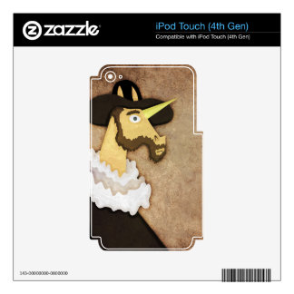 Ruffled Unicorn iPod Touch 4G Decal