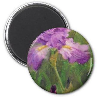 Ruffled violet iris  Margaret Aycock Designs Magnet