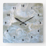 Ruffled White Lace Clock
