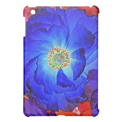 Ruffles Blue Poppy Art iPad Mini Case iPad Mini Cases