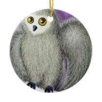 Ruffles the Owl Ceramic Ornament