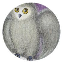 Ruffles the Owl Melamine Plate