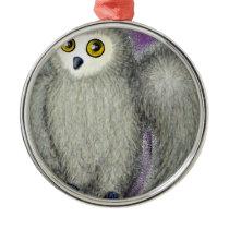 Ruffles the Owl Metal Ornament