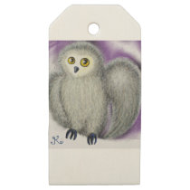 Ruffles the Owl Wooden Gift Tags