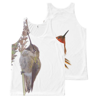 Rufous & Annas Hummingbird Birds Wildlife Animals All-Over Print Tank Top