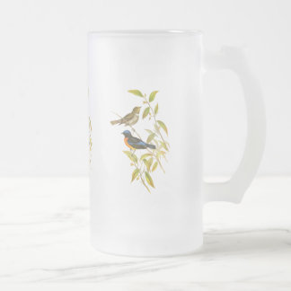 Rufous-bellied Niltava Frosted Glass Beer Mug