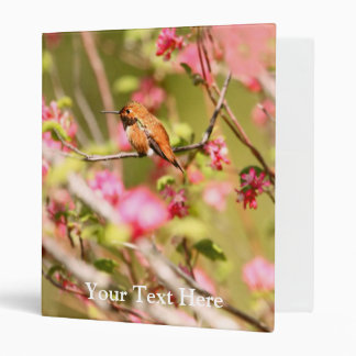 Rufous Hummingbird and Flowers 3 Ring Binder