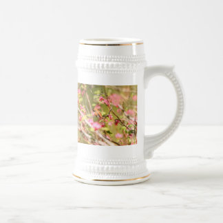 Rufous Hummingbird and Flowers Beer Stein