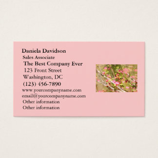 Rufous Hummingbird and Flowers Business Card