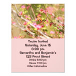 Rufous Hummingbird and Flowers 4.25x5.5 Paper Invitation Card