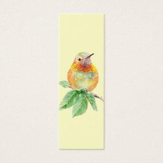 Rufous Hummingbird , Bird, Nature, Garden BookMark Mini Business Card
