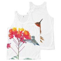 Rufous Hummingbird Bird Wildlife Animal All-Over-Print Tank Top
