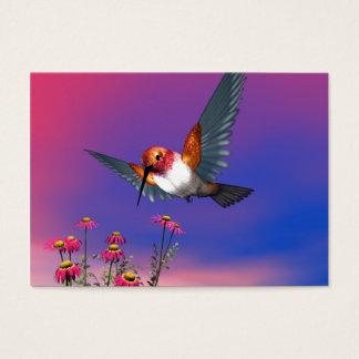 Rufous hummingbird business card