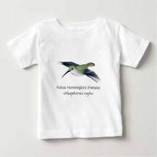Rufous Hummingbird female with Name Baby T-Shirt