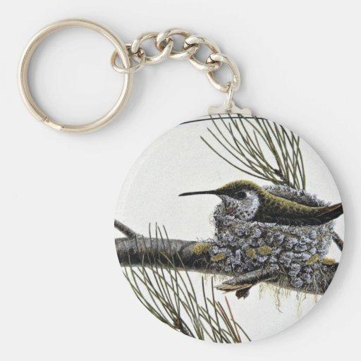 Rufous hummingbird keychains