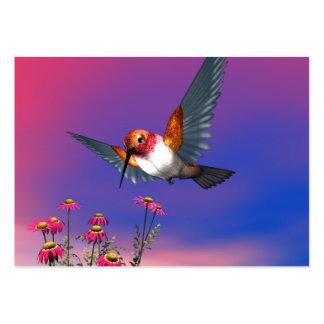 Rufous hummingbird large business card