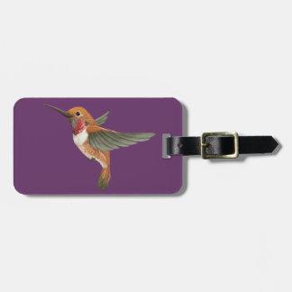 Rufous Hummingbird Luggage Tag