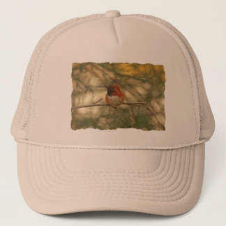 Rufous Hummingbird Sitting Trucker Hat