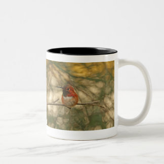 Rufous Hummingbird Sitting Two-Tone Coffee Mug