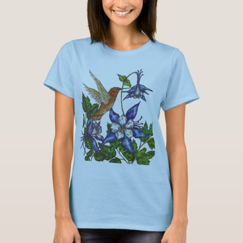Rufous Hummingbird T_Shirt