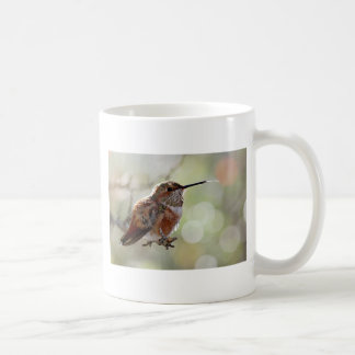 Rufous Hummingbird Tounge Classic White Coffee Mug