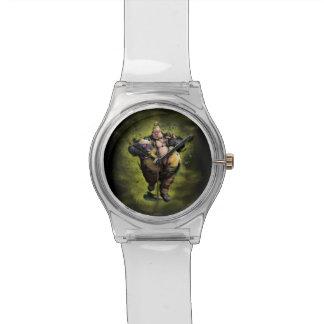 Rufus con palomitas reloj de mano