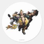 Rufus, El Fuerte & Zangief Classic Round Sticker