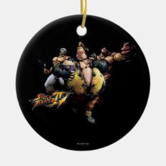 Rufus, El Fuerte & Zangief Christmas Ornaments