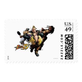 Rufus, El Fuerte & Zangief Postage Stamp
