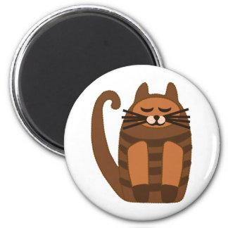 rufus gordo grande del gato imán redondo 5 cm
