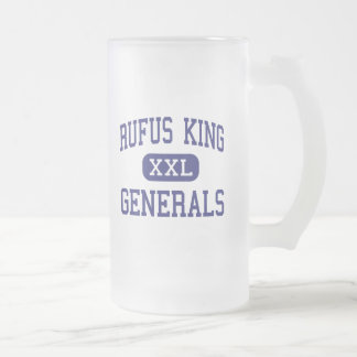 Rufus King - Generals - High - Milwaukee Wisconsin 16 Oz Frosted Glass Beer Mug