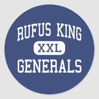 Rufus King - Generals - High - Milwaukee Wisconsin Classic Round Sticker