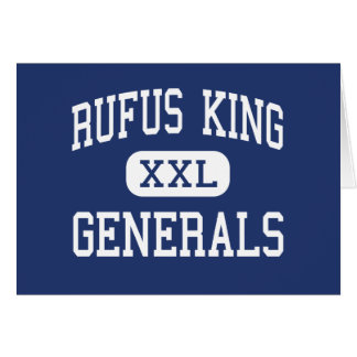 Rufus King - Generals - High - Milwaukee Wisconsin Greeting Card