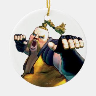 Rufus Yelling Ceramic Ornament