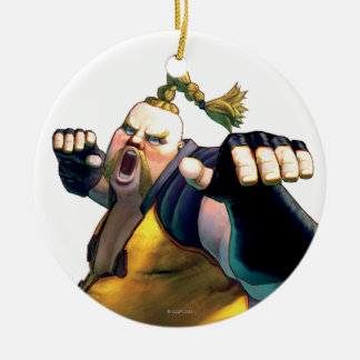 Rufus Yelling Double-Sided Ceramic Round Christmas Ornament