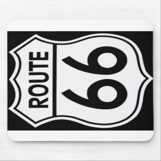 """Rug mouse """"ROUTE 66 """" Mouse Pad"""