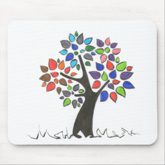 Rug mouse tree with leaves of colors mouse pad