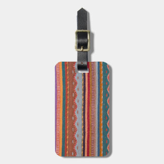 Rug patterns tag for luggage