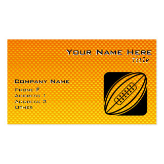 Rugbi amarillo-naranja tarjeta de visita
